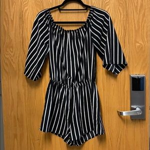 Other - off-the-shoulder striped romper